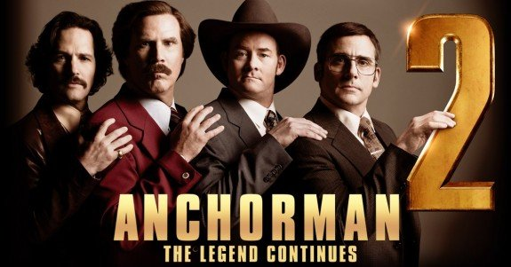 TV3 will screen two network movie premieres in the week starting April 9: Anchorman 2: The Legend Continues (8.45 Saturday) and Pain & Gain (8.30 Wednesday). Other HD coming attractions that week include Spider-Man 3 (TV2, 7.00 Saturday), Ice Age (TV3, 7.00 Saturday), Bad Company (TV2, 9.50 Saturday), Won't Back Down (TV2, 12.10am Sunday), Love and Other Impossible Pursuits (TV2, 2.25am Sunday), Rush Hour 2 (TV2, 8.30 Sunday), and Restless Virgins (TV3, 10.30 Sunday).